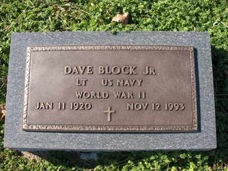 BLOCK, JR (VETERAN WWII), DAVE - Cross County, Arkansas | DAVE BLOCK, JR (VETERAN WWII) - Arkansas Gravestone Photos