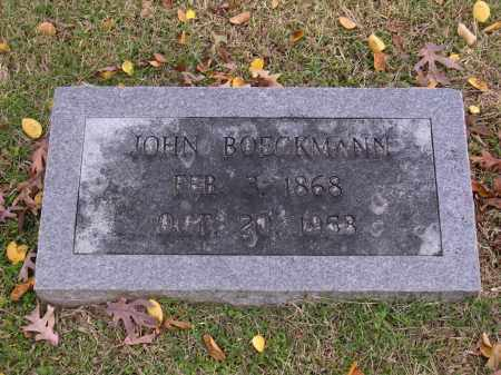 BOECKMANN, JOHN - Cross County, Arkansas | JOHN BOECKMANN - Arkansas Gravestone Photos