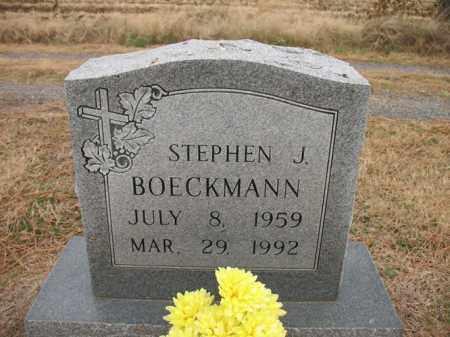 BOECKMANN, STEPHEN J - Cross County, Arkansas | STEPHEN J BOECKMANN - Arkansas Gravestone Photos