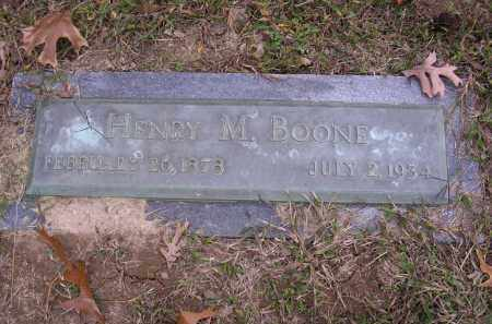 BOONE, HENRY M - Cross County, Arkansas | HENRY M BOONE - Arkansas Gravestone Photos