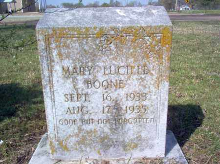 BOONE, MARY LUCILLE - Cross County, Arkansas | MARY LUCILLE BOONE - Arkansas Gravestone Photos