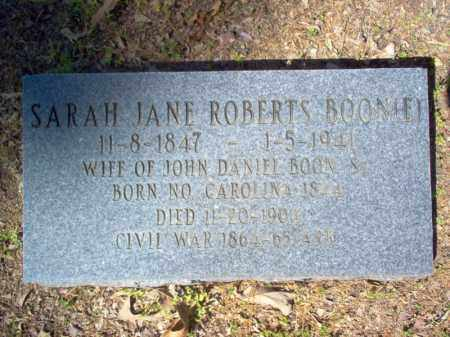 ROBERTS BOON(E), SARAH JANE - Cross County, Arkansas | SARAH JANE ROBERTS BOON(E) - Arkansas Gravestone Photos