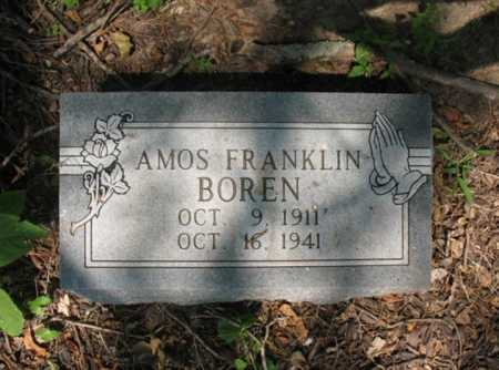 BOREN, AMOS FRANKLIN - Cross County, Arkansas | AMOS FRANKLIN BOREN - Arkansas Gravestone Photos