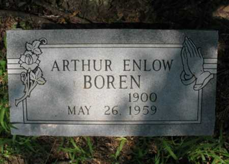 BOREN, ARTHUR ENLOW - Cross County, Arkansas | ARTHUR ENLOW BOREN - Arkansas Gravestone Photos