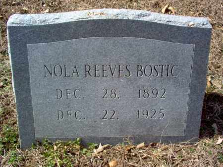 REEVES BOSTIC, NOLA - Cross County, Arkansas | NOLA REEVES BOSTIC - Arkansas Gravestone Photos