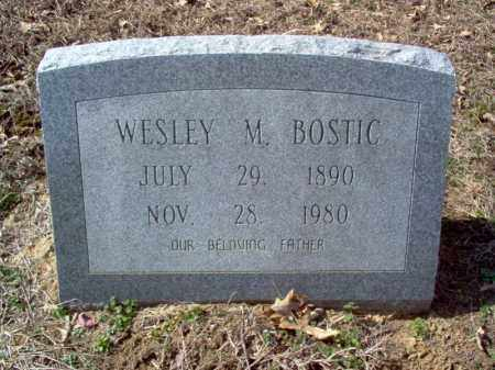 BOSTIC, WESLEY M - Cross County, Arkansas | WESLEY M BOSTIC - Arkansas Gravestone Photos