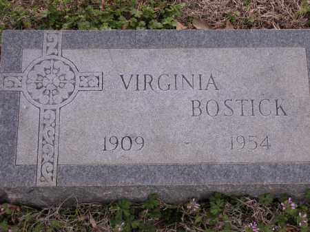 BOSTICK, VIRGINIA - Cross County, Arkansas | VIRGINIA BOSTICK - Arkansas Gravestone Photos