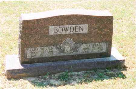 BOWDEN, KARA WILLIAM - Cross County, Arkansas | KARA WILLIAM BOWDEN - Arkansas Gravestone Photos