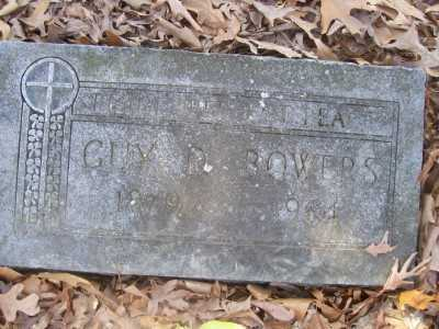 BOWERS, GUY D. - Cross County, Arkansas | GUY D. BOWERS - Arkansas Gravestone Photos