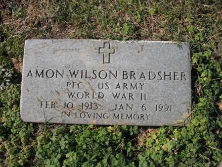 BRADSHER (VETERAN WWII), AMON WILSON - Cross County, Arkansas | AMON WILSON BRADSHER (VETERAN WWII) - Arkansas Gravestone Photos