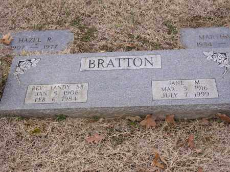 BRATTON, REV. TANDY - Cross County, Arkansas | REV. TANDY BRATTON - Arkansas Gravestone Photos
