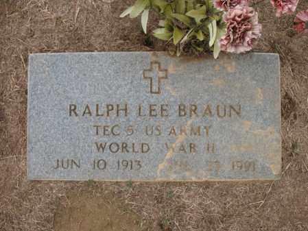 BRAUN (VETERAN WWII), RALPH LEE - Cross County, Arkansas | RALPH LEE BRAUN (VETERAN WWII) - Arkansas Gravestone Photos