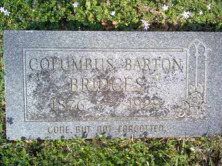 BRIDGES, COLUMBUS BARTON - Cross County, Arkansas | COLUMBUS BARTON BRIDGES - Arkansas Gravestone Photos