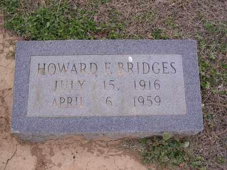 BRIDGES, HOWARD F - Cross County, Arkansas | HOWARD F BRIDGES - Arkansas Gravestone Photos