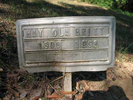BRITT, MAY OLA - Cross County, Arkansas | MAY OLA BRITT - Arkansas Gravestone Photos