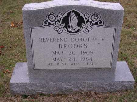 BROOKS REV., DOROTHY V - Cross County, Arkansas | DOROTHY V BROOKS REV. - Arkansas Gravestone Photos