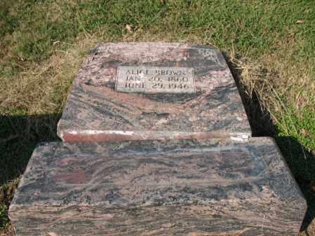 BROWN, ALICE - Cross County, Arkansas   ALICE BROWN - Arkansas Gravestone Photos