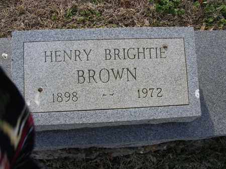 BROWN, HENRY BRIGHTIE - Cross County, Arkansas | HENRY BRIGHTIE BROWN - Arkansas Gravestone Photos