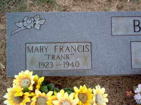 "BROWN, MARY FRANCIS ""FRANK"" - Cross County, Arkansas 