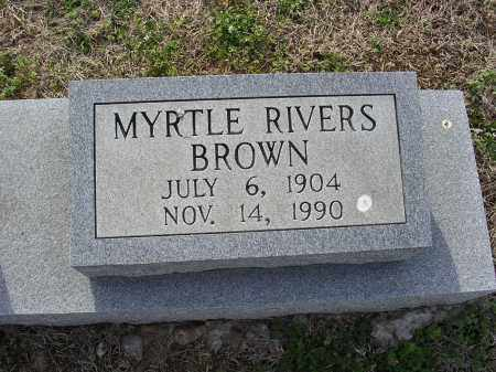 RIVERS BROWN, MYRTLE - Cross County, Arkansas | MYRTLE RIVERS BROWN - Arkansas Gravestone Photos