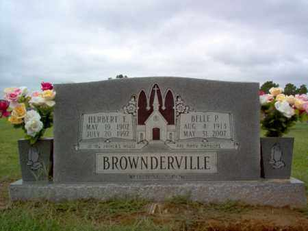 BROWNDERVILLE, HERBERT E - Cross County, Arkansas | HERBERT E BROWNDERVILLE - Arkansas Gravestone Photos