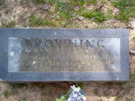 BROWNING, MARTHA A - Cross County, Arkansas | MARTHA A BROWNING - Arkansas Gravestone Photos