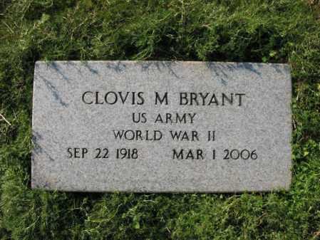 BRYANT (VETERAN WWII), CLOVIS M - Cross County, Arkansas | CLOVIS M BRYANT (VETERAN WWII) - Arkansas Gravestone Photos