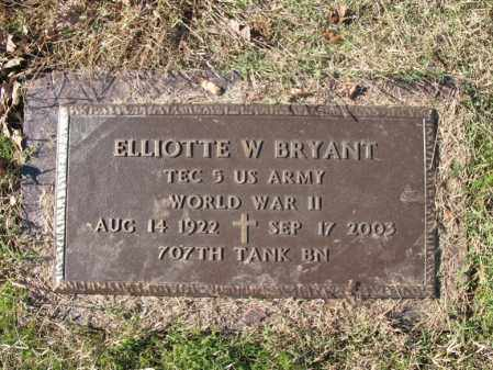 BRYANT (VETERAN WWII), ELLIOTTE W - Cross County, Arkansas | ELLIOTTE W BRYANT (VETERAN WWII) - Arkansas Gravestone Photos