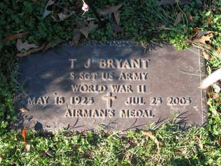 BRYANT (VETERAN WWII), T J - Cross County, Arkansas | T J BRYANT (VETERAN WWII) - Arkansas Gravestone Photos
