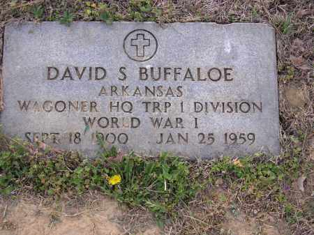 BUFFALOE  (VETERAN WWI), DAVID S - Cross County, Arkansas | DAVID S BUFFALOE  (VETERAN WWI) - Arkansas Gravestone Photos