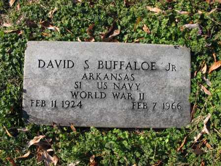 BUFFALOE, JR (VETERAN WWII), DAVID SCHUMANN - Cross County, Arkansas | DAVID SCHUMANN BUFFALOE, JR (VETERAN WWII) - Arkansas Gravestone Photos