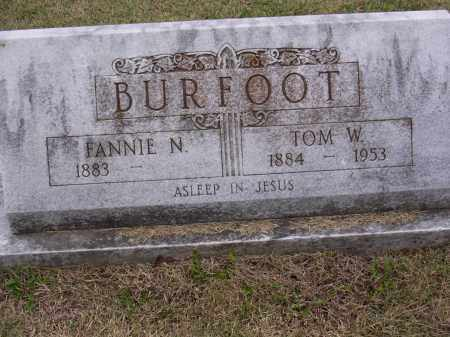 BURFOOT, FANNIE N - Cross County, Arkansas | FANNIE N BURFOOT - Arkansas Gravestone Photos