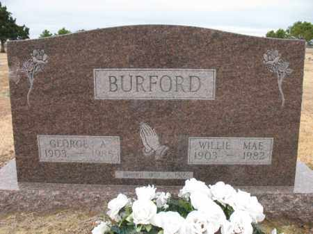 BURFORD, WILLIE MAE - Cross County, Arkansas | WILLIE MAE BURFORD - Arkansas Gravestone Photos