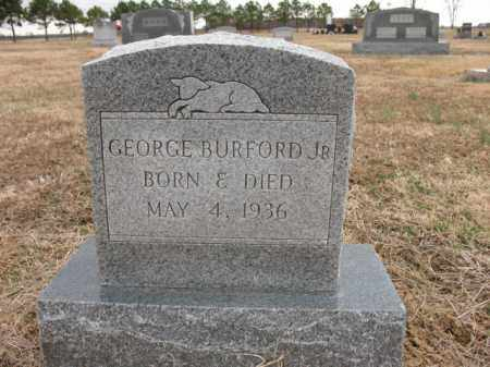 BURFORD, JR., GEORGE - Cross County, Arkansas | GEORGE BURFORD, JR. - Arkansas Gravestone Photos
