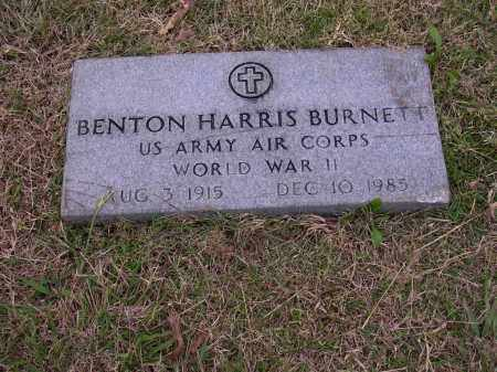 BURNETT  (VETERAN WWII), BENTON HARRIS - Cross County, Arkansas | BENTON HARRIS BURNETT  (VETERAN WWII) - Arkansas Gravestone Photos