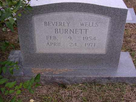 WELLS BURNETT, BEVERLY - Cross County, Arkansas | BEVERLY WELLS BURNETT - Arkansas Gravestone Photos