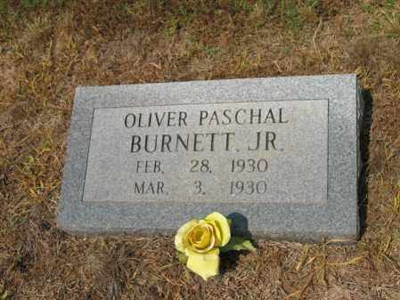 BURNETT, JR., OLIVER PASCHAL - Cross County, Arkansas | OLIVER PASCHAL BURNETT, JR. - Arkansas Gravestone Photos