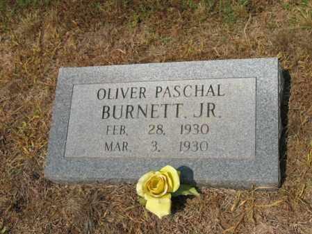 BURNETT, JR., OLIVER PASCHAL - Cross County, Arkansas | OLIVER PASCHAL BURNETT, JR. - Arkansas Gravestone Photos
