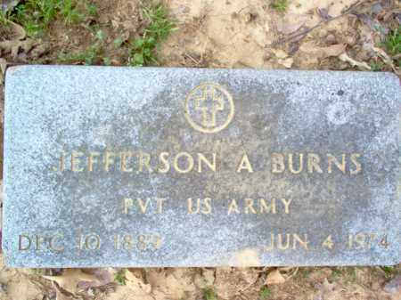 BURNS (VETERAN), JEFFERSON A - Cross County, Arkansas | JEFFERSON A BURNS (VETERAN) - Arkansas Gravestone Photos