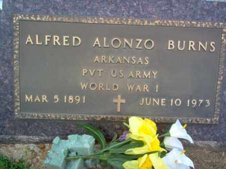 BURNS (VETERAN WWI), ALFRED ALONZO - Cross County, Arkansas | ALFRED ALONZO BURNS (VETERAN WWI) - Arkansas Gravestone Photos