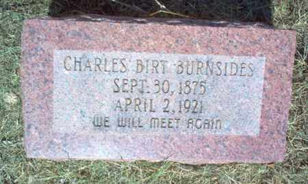 BURNSIDES, CHARLES BIRT - Cross County, Arkansas | CHARLES BIRT BURNSIDES - Arkansas Gravestone Photos