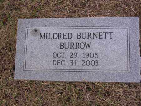 BURNETT BURROW, MILDRED CATHERINE - Cross County, Arkansas | MILDRED CATHERINE BURNETT BURROW - Arkansas Gravestone Photos