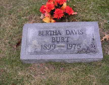 DAVIS BURT, BERTHA - Cross County, Arkansas | BERTHA DAVIS BURT - Arkansas Gravestone Photos