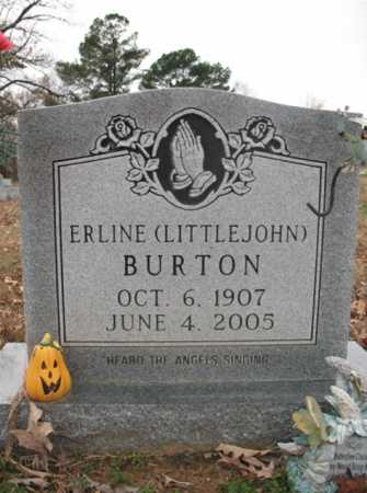 LITTLEJOHN BURTON, MARGARET ERLINE - Cross County, Arkansas | MARGARET ERLINE LITTLEJOHN BURTON - Arkansas Gravestone Photos