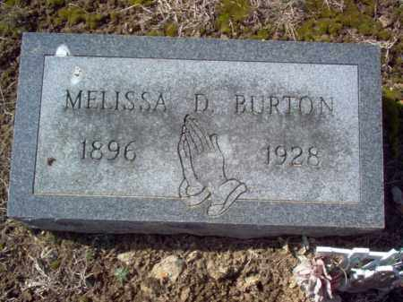 BURTON, MELISSA D - Cross County, Arkansas | MELISSA D BURTON - Arkansas Gravestone Photos