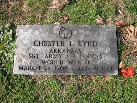 BYRD (VETERAN WWII), CHESTER L - Cross County, Arkansas | CHESTER L BYRD (VETERAN WWII) - Arkansas Gravestone Photos