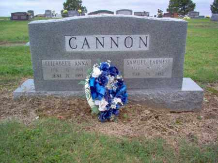 CANNON, SAMUEL EARNEST - Cross County, Arkansas | SAMUEL EARNEST CANNON - Arkansas Gravestone Photos