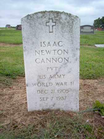 CANNON (VETERAN WWII), ISAAC NEWTON - Cross County, Arkansas   ISAAC NEWTON CANNON (VETERAN WWII) - Arkansas Gravestone Photos