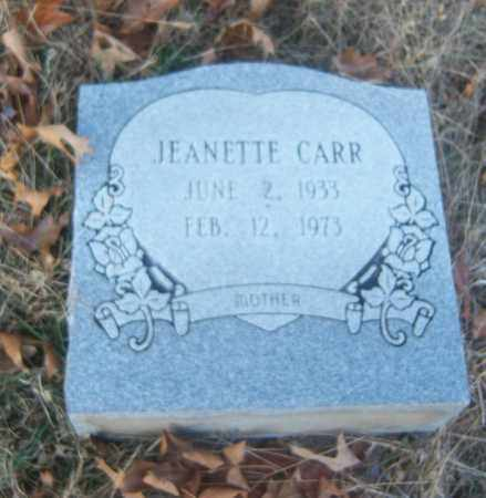 CARR, JEANETTE - Cross County, Arkansas | JEANETTE CARR - Arkansas Gravestone Photos