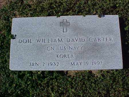 CARTER  (VETERAN KOR), DOIL WILLIAM DAVID - Cross County, Arkansas | DOIL WILLIAM DAVID CARTER  (VETERAN KOR) - Arkansas Gravestone Photos